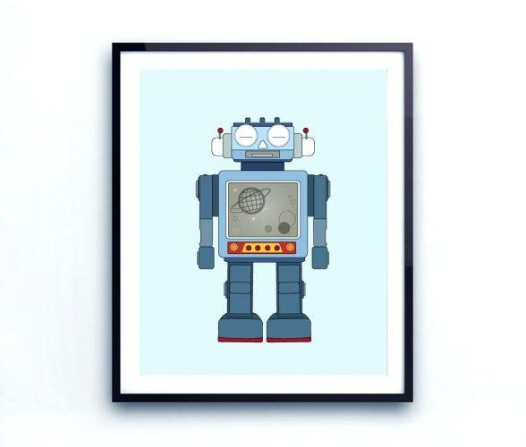 Wall Arts ~ Robot Canvas Wall Art Target Robot Wall Art Robot Wall Inside Robot Canvas Wall Art (Image 18 of 20)