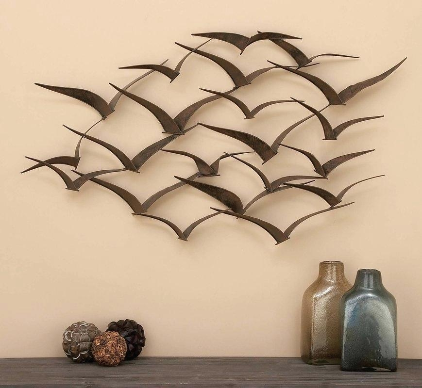 Wall Decor Metal Sculpture Ginkgo Breeze Metal Wall Sculpture Within Kingdom Abstract Metal Wall Art (Image 16 of 20)