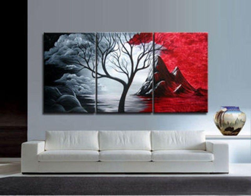 Wall Oil Painting Art Superhuman 3Pieces Modern Abstract Huge Wall For Modern Abstract Huge Wall Art (Image 20 of 20)