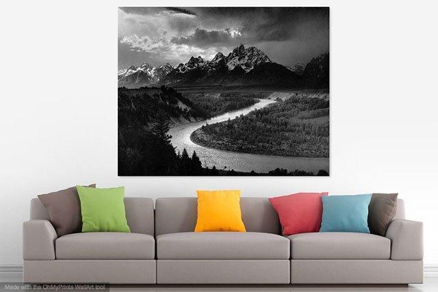 Wallapp Shows You What Your Photo Would Look As Wall Art In A Room Within Mockup Canvas Wall Art (Image 20 of 20)