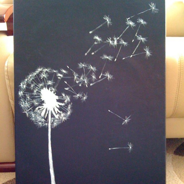 Walls With Painted Dandelion | Dandelion ( Canvas & Acrylic ) Was Pertaining To Dandelion Canvas Wall Art (Image 19 of 20)