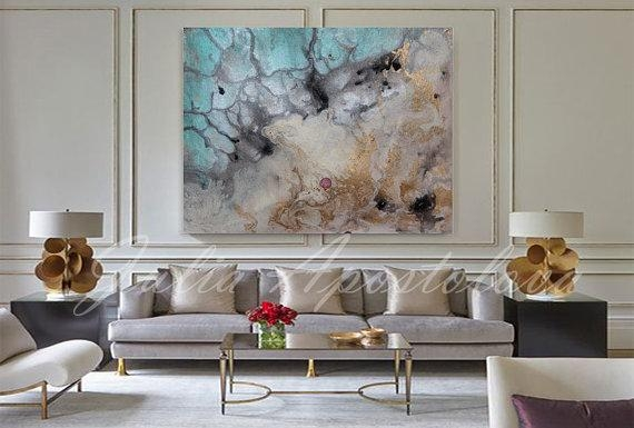Water Color Painting Art Print Abstract Watercolor Large Inside Abstract Nautical Wall Art (View 10 of 20)