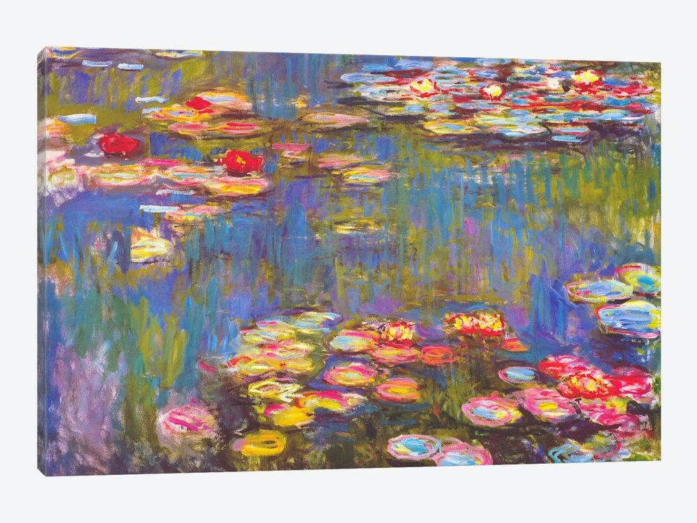 Water Lilies, 1916 Canvas Wall Artclaude Monet | Icanvas For Monet Canvas Wall Art (Image 20 of 20)