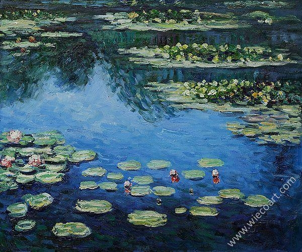 Water Lilies Iii Claude Monet Oil Painting Waterside Scenes Canvas With Monet Canvas Wall Art (Image 18 of 20)