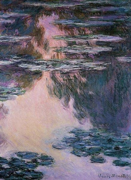 Water Lilies Oil Paintingclaude Monet Canvas Wall Art Famous Regarding Monet Canvas Wall Art (Image 19 of 20)