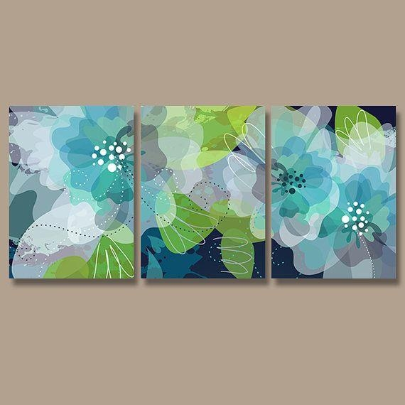 Watercolor Wall Art, Canvas Or Print Pottery Flower Artwork Regarding Lime Green Abstract Wall Art (Image 20 of 20)