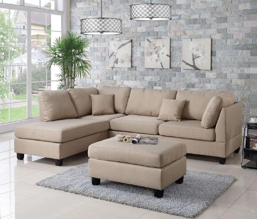 Wayfair, Ifin1021, Amazon, Poundex, F7605, Sectional, Sand Beige With Regard To Wayfair Sectional Sofas (Image 9 of 10)