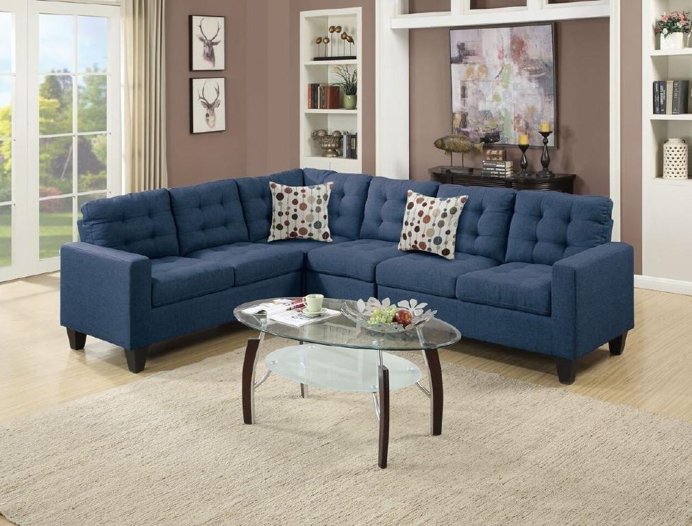 Wayfair, Ifin1023, Sectional, Navy, Poundex, F6938, Sofa Intended For Wayfair Sectional Sofas (Image 10 of 10)