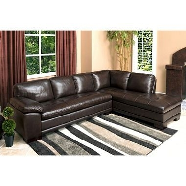 Westbury Top Grain Leather Sectional (Assorted Colors) | Leather Within Sams Club Sectional Sofas (Image 10 of 10)