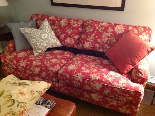What Fabric Patterns Go With A Floral Chintz With Deep Red Background? For Chintz Floral Sofas (Image 10 of 10)