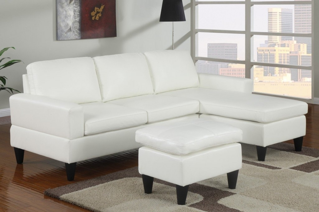 White Leather Ottoman Along With White Leather Sectional Sleeper Intended For Sectional Sleeper Sofas With Ottoman (Image 10 of 10)