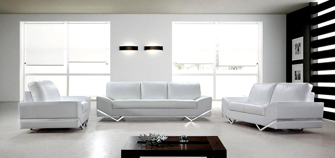 White Modern Sofa Set Vg 74 | Leather Sofas Throughout White Modern Sofas (View 2 of 10)