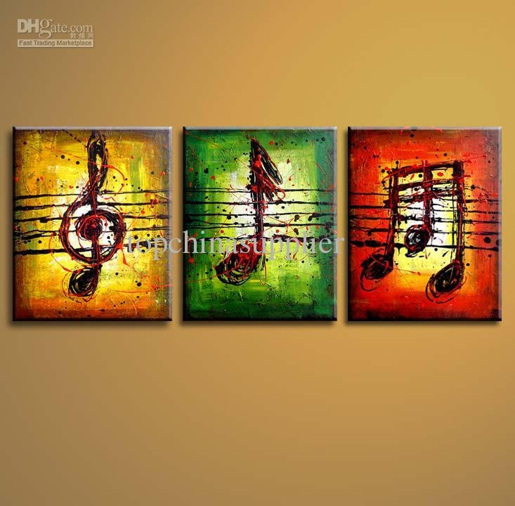 Wholesale Art Modern Abstract Oil Painting Musical Notes Museum Within Abstract Music Wall Art (Image 20 of 20)