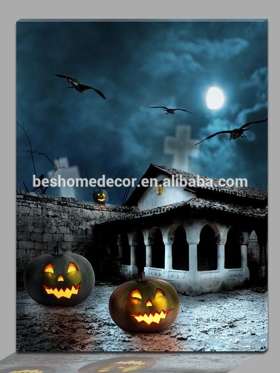 20 collection of halloween led canvas wall art wall art for Best place to buy canvas prints