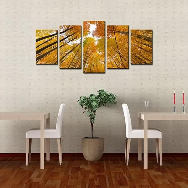 Wholesale Dealers Of Framed Canvas Prints High Trunk Yellow Woods Within Leadgate Canvas Wall Art (Image 20 of 20)