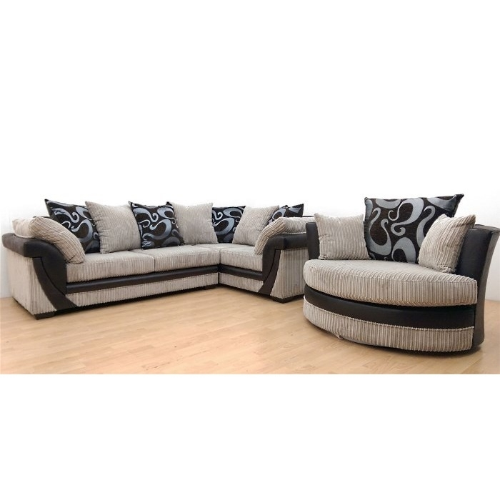 Why Pay More For A Lush Corner Sofa Rhf + Swivel Chair Cream  Brown Within Sofas With Swivel Chair (Image 10 of 10)