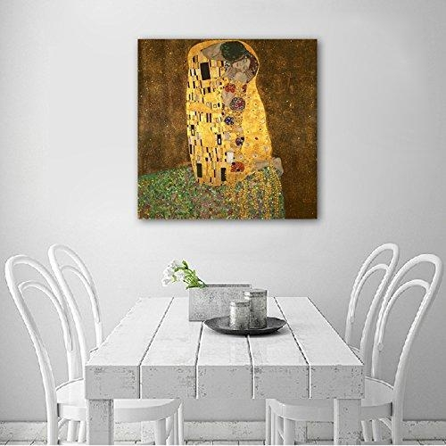 Wieco Art Canvas Print Of The Kissklimt Oil Paintings Modern With Modern Canvas Wall Art (Image 20 of 20)