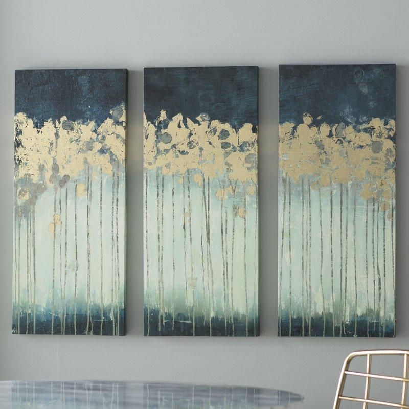 Willa Arlo Interiors 'midnight Forest' Gel Coat Canvas Wall Art Pertaining To Embellished Canvas Wall Art (Image 18 of 20)