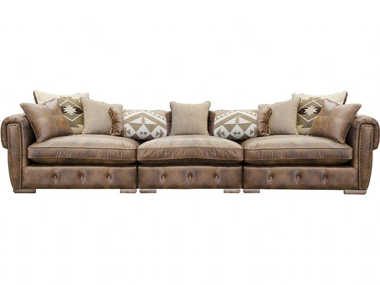 Wilson Extra Large Leather Sofa – Lee Longlands Inside Extra Large Sofas (Image 10 of 10)
