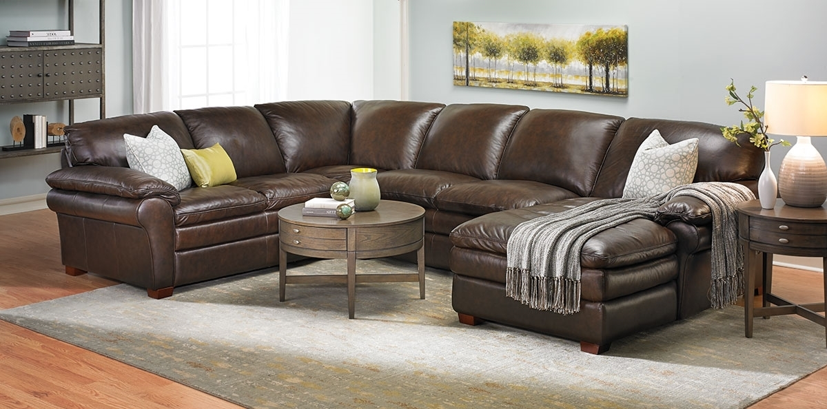 Winfield Leather Sectional Sofa | Haynes Furniture, Virginia's With Virginia Sectional Sofas (View 1 of 10)