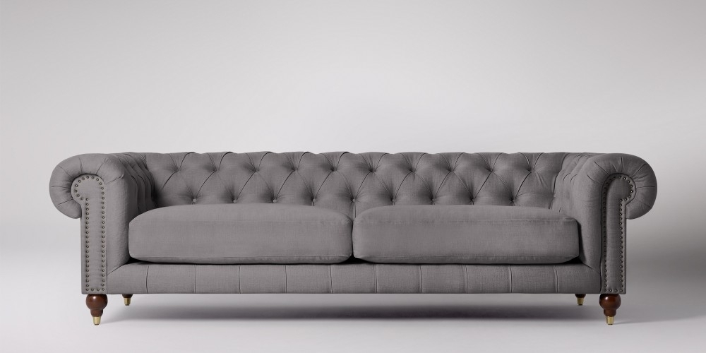 Winston Four Seater Sofa | Swoon Editions Throughout Four Seater Sofas (Image 10 of 10)
