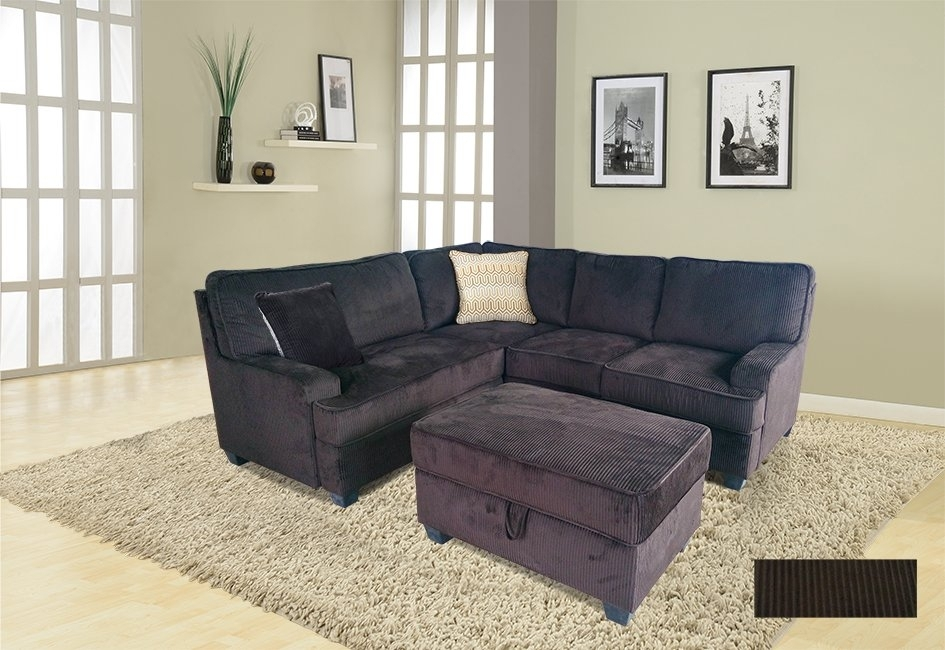 Winston Porter Faust Sectional With Ottoman & Reviews | Wayfair For Sectionals With Ottoman (Image 10 of 10)
