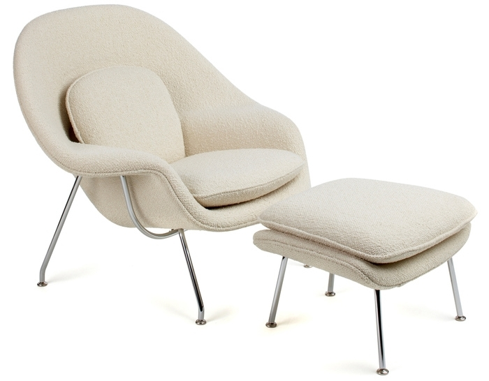 Womb Lounge Chair & Ottoman – Hivemodern Intended For Chairs With Ottoman (Image 10 of 10)