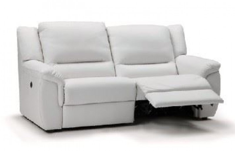 Wonderful 2 Seat Leather Reclining Sofa Thesofa Regarding White Throughout 2 Seat Sectional Sofas (Image 10 of 10)