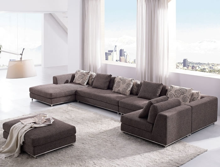 Wonderful Modern Sofa Sectional With Furniture Modern Sectional Within Contemporary Sectional Sofas (Image 10 of 10)