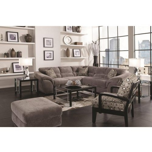 Woodhaven Ritz Collection Includes: Sofa, Ottoman, Coffee Table, 2 For Sectional Sofas At Aarons (Image 10 of 10)