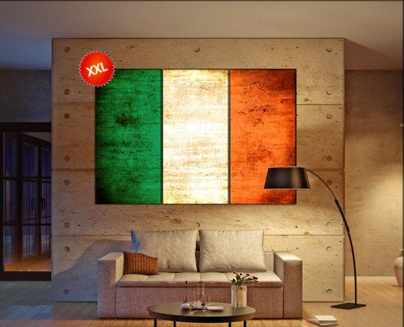 World Flags – Canvasconquest In Ireland Canvas Wall Art (Image 20 of 20)