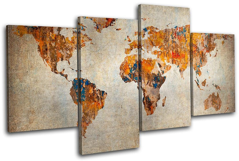 World Map Wall Art Canvas | Design Idea And Decorations : Family Regarding Maps Canvas Wall Art (View 6 of 20)
