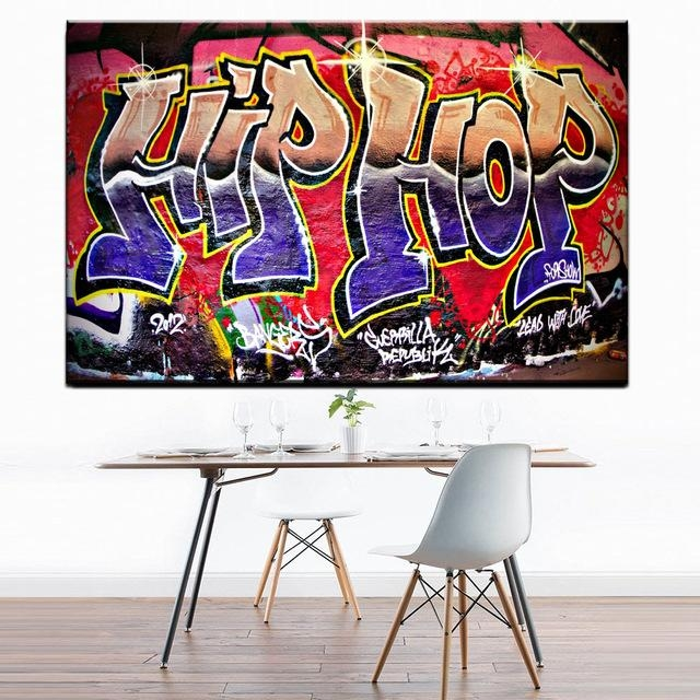 Xdr951 Graffiti Street Art Hip Hop Canvas Wall Art Prints Poster Inside Graffiti Canvas Wall Art (Image 20 of 20)