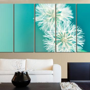 Xxl 5 Panel Wall Art Canvas Print From Mycanvasprint Inside Dandelion Canvas Wall Art (View 11 of 20)