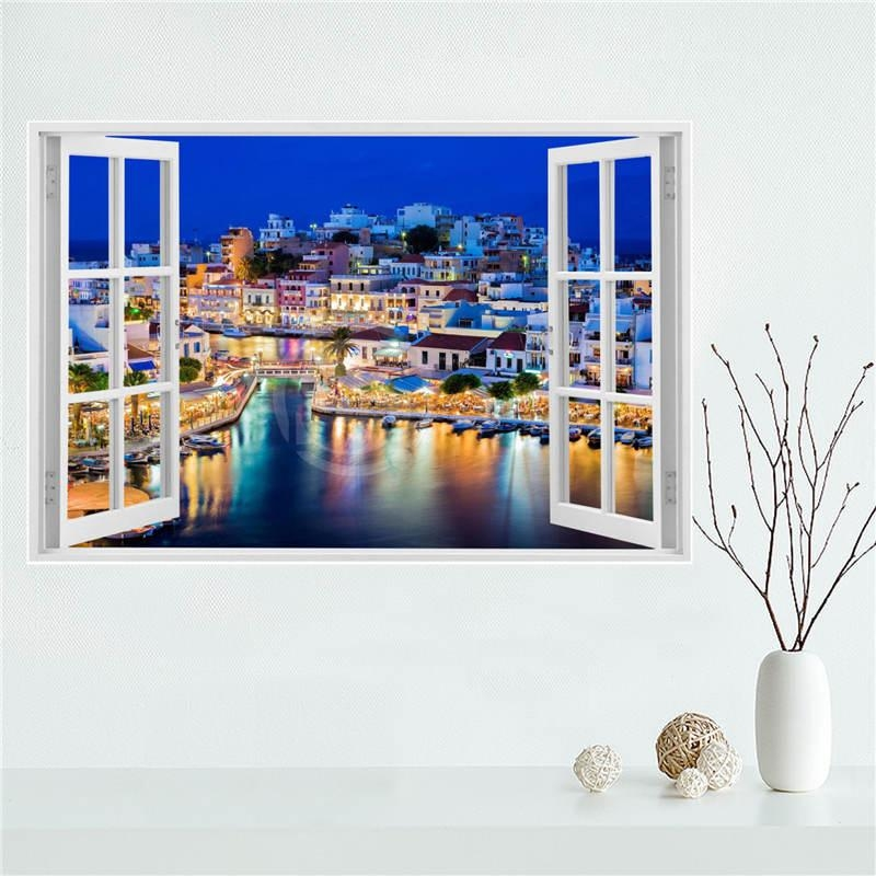 Y530L10 Custom Santorini Sea View In Greece Canvas Painting Wall Inside Greece Canvas Wall Art (Photo 7 of 20)