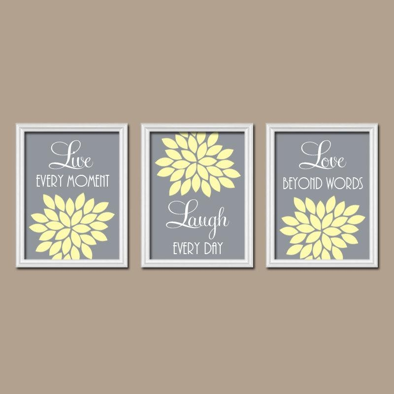 Yellow Gray Wall Art – Yellow Gray Bedroom Live Laugh Love Yellow Within Live Laugh Love Canvas Wall Art (View 17 of 20)
