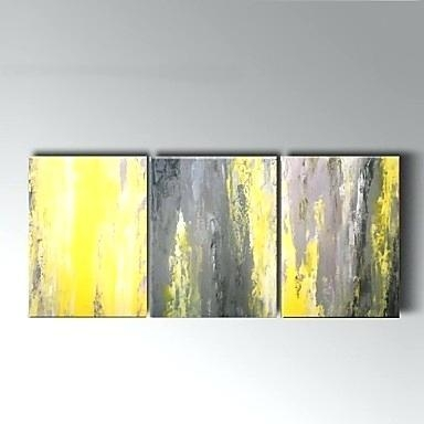 Yellow Grey Wall Art Large Wall Art Art Print Of Yellow Gray And Throughout Yellow And Grey Abstract Wall Art (View 12 of 20)