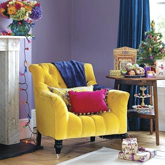 Yellow Sofa Chair Contemporary Yellow Leather 5 Sofa Gray Sofa Pertaining To Yellow Sofa Chairs (Image 10 of 10)
