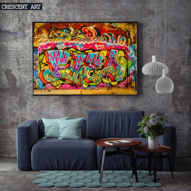 Young Fashion Modern Pop Teenage Graffiti Street Art Poster In Abstract Wall Art Posters (Image 20 of 20)