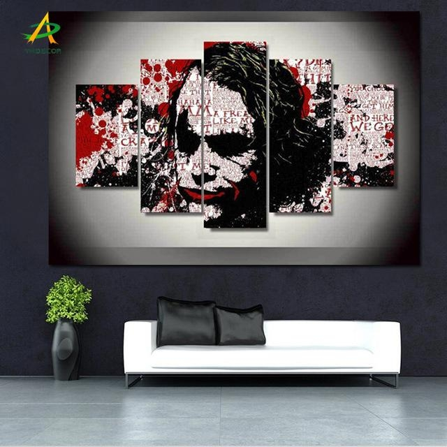 Ywdecor 5Panel 3D Michael Jackson Graffiti Canvas Painting Hd Pertaining To Michael Jackson Canvas Wall Art (View 17 of 20)