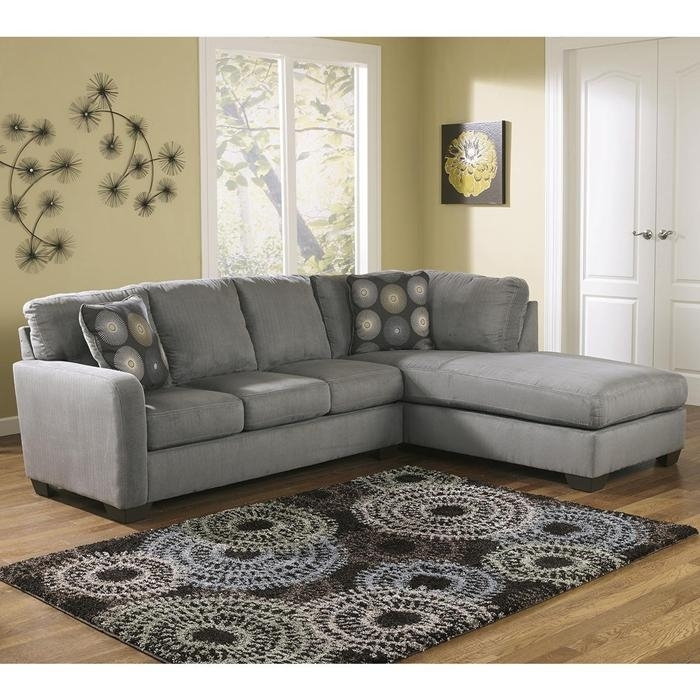 Zella 2 Piece Sectional With Left Side Sofa In Charcoal | Nebraska With Nebraska Furniture Mart Sectional Sofas (View 7 of 10)