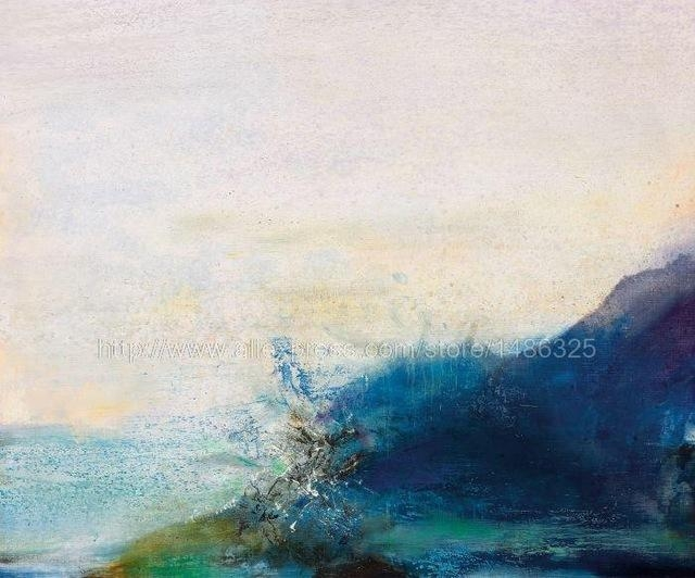Zhao Wuji Hand Painted Abstract Landscape Wall Art Large Canvas Within Abstract Landscape Wall Art (Image 20 of 20)