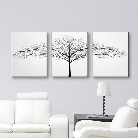 0 White Wall Decor Canvas Art Bedroom Wall Decor 3 Piece Wall Art Intended For White Wall Art (Image 1 of 10)