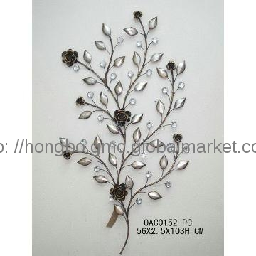 0Ac0152, China 2013 Hot Sale Nice Decorative Metal Flower Wall Art In Metal Flowers Wall Art (View 3 of 10)