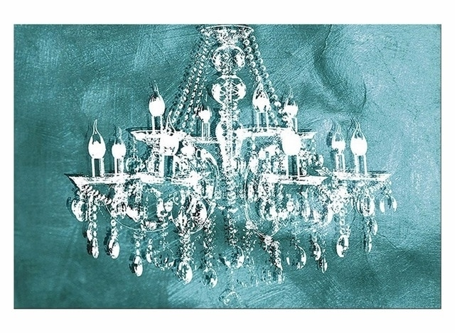 1 Panel Modern Painting Canvas Art Crystal Chandelier Pattern Retro Pertaining To Chandelier Wall Art (Image 1 of 10)