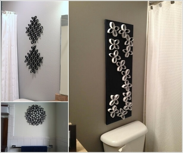 10 Creative Diy Bathroom Wall Decor Ideas With Bathroom Wall Art Decors (Image 1 of 10)