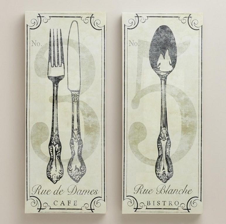 10 Fun And Creative Kitchen Wall Decor Ideas – Rilane With Fork And Spoon Wall Art (Image 1 of 10)