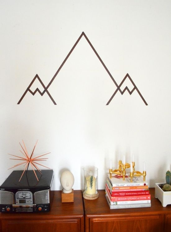 10 Things You Didn't Know You Could Do With Washi Tape | Diy In Washi Tape Wall Art (Photo 1 of 10)