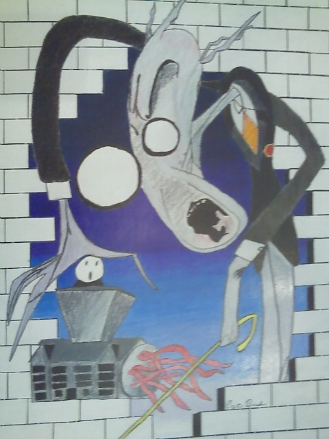 10Th Grade Art/pink Floyd The Wall Animated School – Bush611's Throughout Pink Floyd The Wall Art (View 4 of 10)
