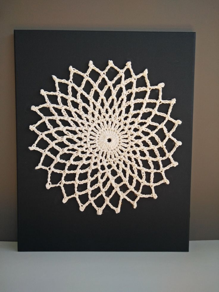 14 Best Crochet Wall Art Images On Pinterest Crochet Wall Art Throughout Crochet Wall Art (View 8 of 10)